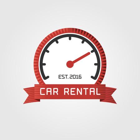 Vector car rentals label  Vector logo design template  Concept for