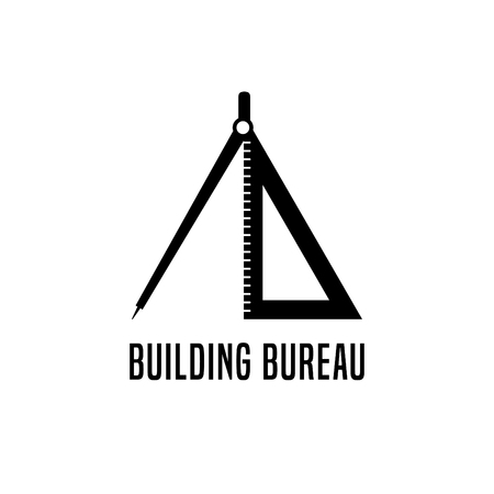 House building and remodeling vector icon or logotype