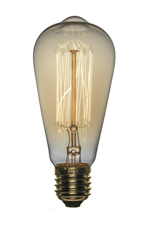 Photo for Retro light bulb, Edison style. Isolated object on a white background. - Royalty Free Image