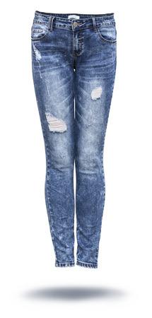 Foto de woman jeans in white background - Imagen libre de derechos