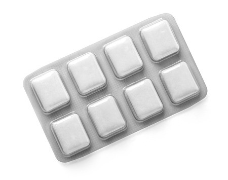 Pack of Chewing Gum isolated