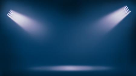 Photo pour soccer stadium lights reflectors against blue background - image libre de droit