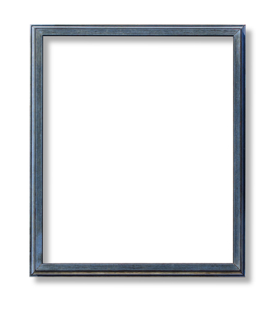 Photo pour blue wooden frame isolated on white background - image libre de droit