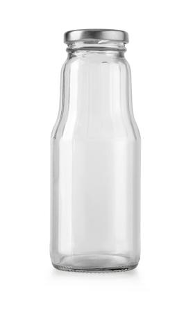 Photo pour empty glass bottle isolated - image libre de droit