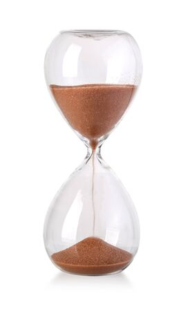 Photo pour Hourglass isolated on white background - image libre de droit