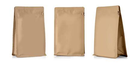 Foto für brown Blank Foil Food Snack Sachet Bag Packaging - Lizenzfreies Bild