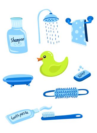 Illustration pour bathroom icon set, vector illustration - image libre de droit