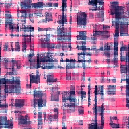 Photo pour Abstract grunge cross geometric shapes contemporary art multicolor seamless pattern background. Watercolor hand drawn colorful brush strokes texture. Watercolour print for textile, wallpaper, wrapping - image libre de droit