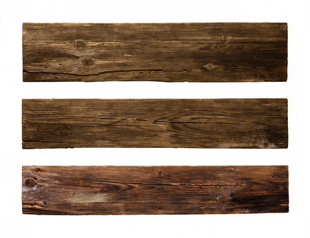 Old Wood plank, isolated on white background