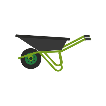 Illustration for Wheelbarrow icon. Vector illustration. Concept of gardening - Royalty Free Image