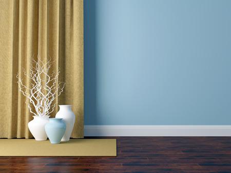 Detail shot of modern living room wall. Luxury interior design.