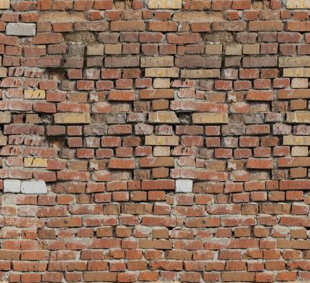 Foto de Red brick. The texture of the masonry. - Imagen libre de derechos