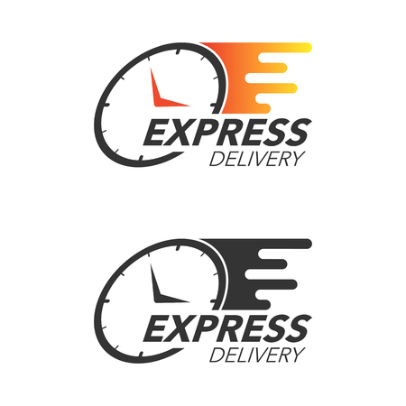 Illustration pour Express delivery icon concept. Watch icon for service, order, fast and free shipping. Modern design vector illustration. - image libre de droit