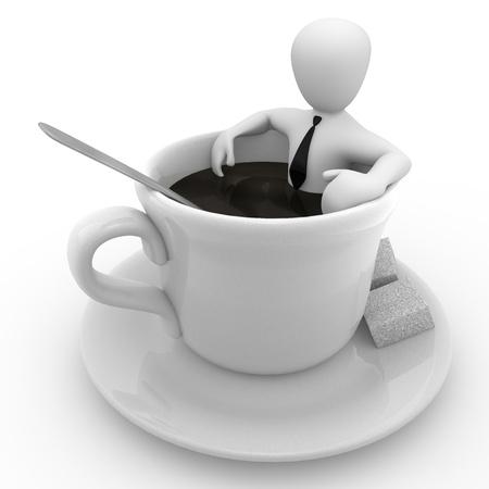 Photo pour Coffee break - image libre de droit