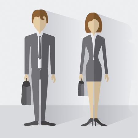 Hombre de negocios con maletin / Businessman with briefcase