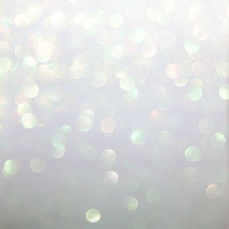 Photo pour silver glitter texture abstract background. Bokeh circles for Christmas background - image libre de droit