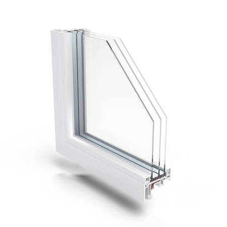 Plastic Window profile  isolated on a white background