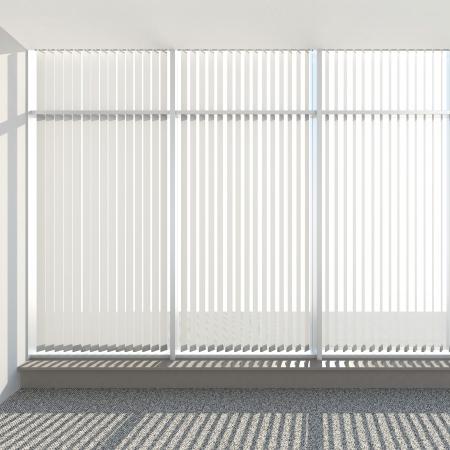 window vertical fabric blinds 3d render