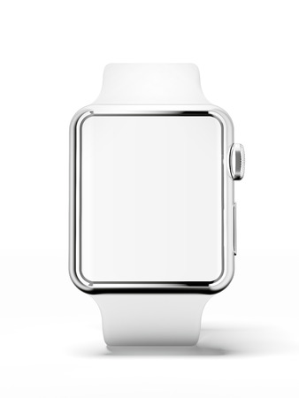 White smart watchの写真素材