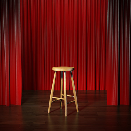 Photo for stool on a stage - Royalty Free Image
