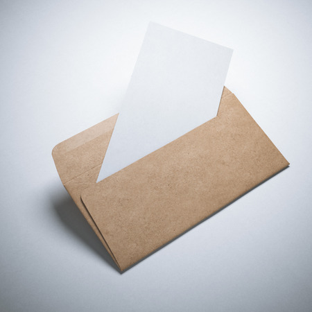 Kraft paper envelope with blank sheet
