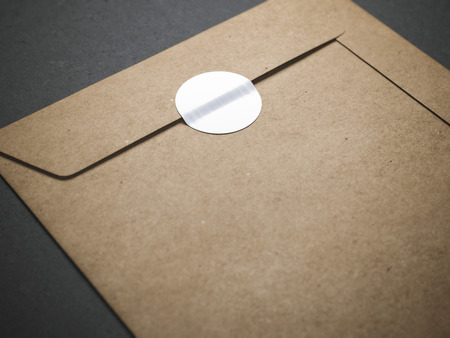 Yellow envelope with blank sticker