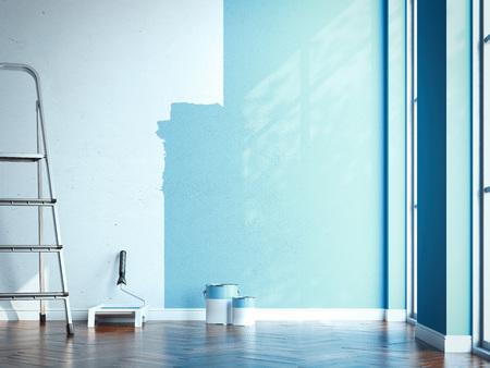 Photo pour Apartment renovation . 3d rendering - image libre de droit