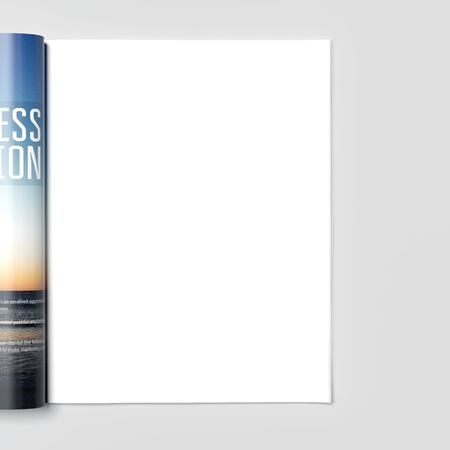 Photo for Magazine with blank white page. 3d rendering - Royalty Free Image