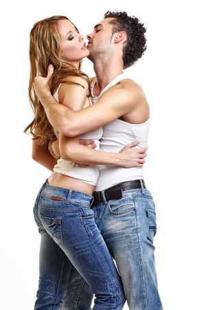 Photo pour passionate couple love each other - image libre de droit