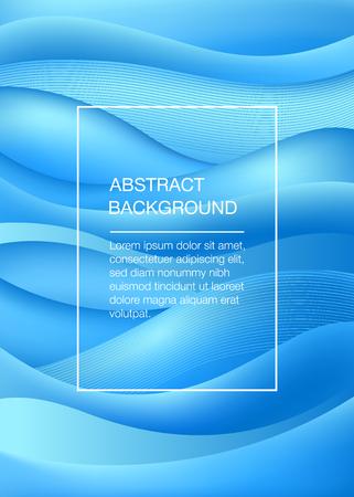 Illustration pour Blue abstract background with waves. Sea concept. Vector illustration - image libre de droit