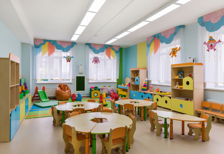 Photo pour Room for games and activities in the kindergarten - image libre de droit