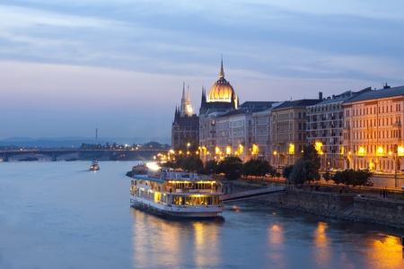 Night view of Budapest