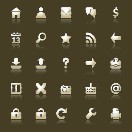 Set of icons for the Internet of appendices
