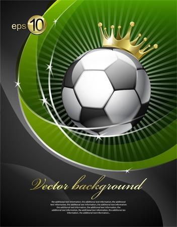Ilustración de Football with a gold crown - Imagen libre de derechos