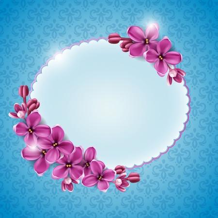 Spring background for the design of flowers. Vector illustration
