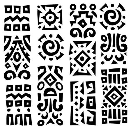 Illustration pour Ethnic African geometrically typical elements - image libre de droit