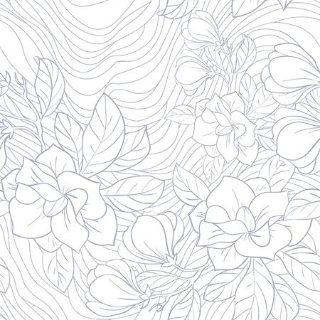 Jasmine floral vector seamless pattern