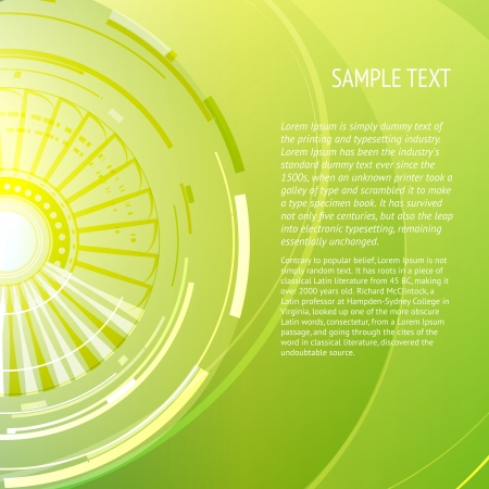 Abstract green background with place for your text  Vector illustration