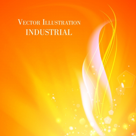 Abstract background of industry fire. Vector illustration.
