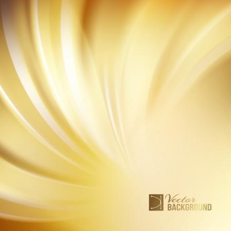 Orange abstract swirl. Vector illustration