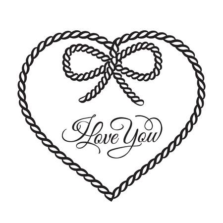I love you - card. Vector illustration.