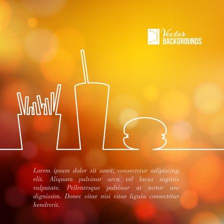 Fast food design. Vector illustration.