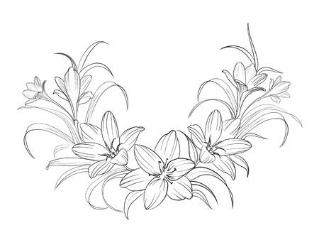 Illustration pour Crocus flowers isolated over white. Vector illustration. - image libre de droit