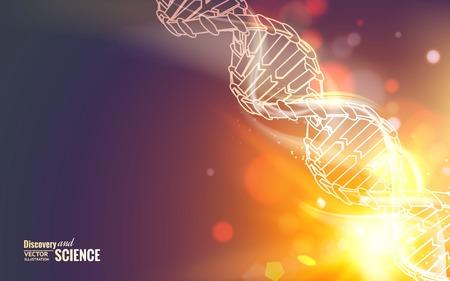 Scince illustration of a DNA molecule. Vector illustration.