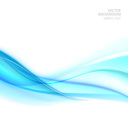 Illustration pour Blue smooth light lines. Illustration of water swirling. Blue waves. Vector illustration. - image libre de droit