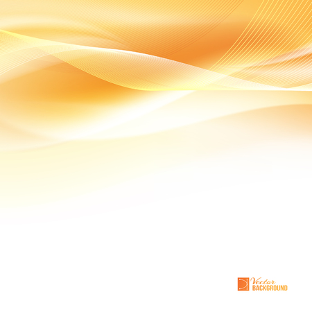 Abstract orange wind. Tender orange light abstract background. Colorful smooth light lines background. Vector illustration, contains transparencies, gradients and effects.