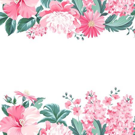Illustration for Vintage flower frame for your custom decorative design. Vector illustration. - Royalty Free Image