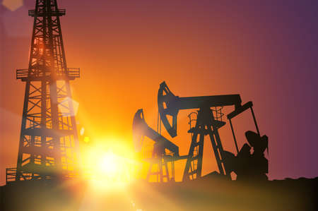 Illustration for Oil field - Royalty Free Image
