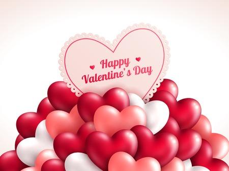 Foto de Valentine\\\'s day background with shining hearts.  - Imagen libre de derechos