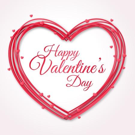 Illustration pour Happy Valentines Day Greeting Card.  - image libre de droit